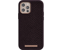 Nordic Elements Njord Apple iPhone 12 / 12 Pro Back Cover Leer Paars