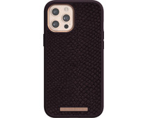 Nordic Elements Njord Apple iPhone 12 Pro Max Back Cover Leer Paars