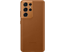 Samsung Galaxy S21 Ultra Back Cover Leather Brown