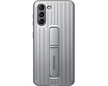 Samsung Galaxy S21 Protective Standing Back Cover Grijs