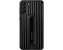 Samsung Galaxy S21 Plus Protective Standing Back Cover Zwart