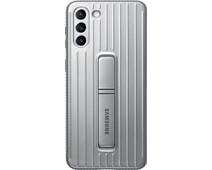 Samsung Galaxy S21 Plus Protective Standing Back Cover Grijs