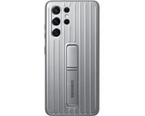 Samsung Galaxy S21 Ultra Protective Standing Back Cover Grijs