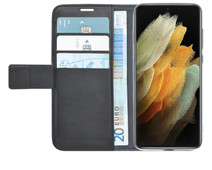 Azuri Wallet Samsung Galaxy S21 Ultra Book Case Zwart