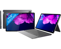 Lenovo Tab P11 Pro 128 GB Wifi Grijs + QWERTY Hoes + Stylus