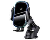 Baseus Universele Telefoonhouder Auto met Draadloos Opladen Zuignap/Roosterklem
