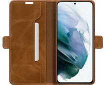 DBramante1928 Copenhagen Slim Samsung Galaxy S21 Plus Book Case Leer Bruin