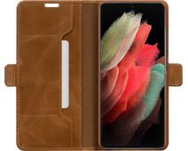 DBramante1928 Copenhagen Slim Samsung Galaxy S21 Ultra Book Case Leer Bruin