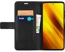 Just in Case Xiaomi Poco X3 Book Case Zwart