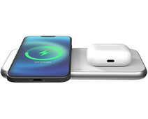 ZENS Dual Wireless Charger 15W for MagSafe White