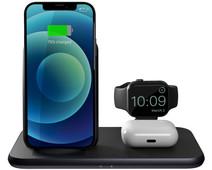 ZENS 4-in-1 Draadloze Oplader 15W met Apple Watch Stand Zwart