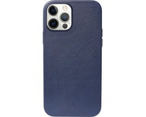 Decoded Apple iPhone 12 mini Back Cover met MagSafe Magneet Leer Blauw
