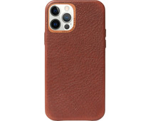 Decoded Apple iPhone 12 Pro Max Back Cover met MagSafe Magneet Leer Bruin