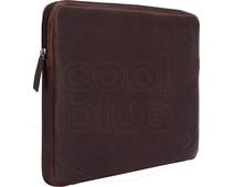 BlueBuilt 15 inch Laptophoes breedte 35 cm - 36 cm Leer Bruin