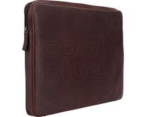 BlueBuilt 17 inch Laptophoes breedte 41 cm - 42 cm Leer Bruin