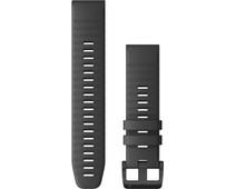 Garmin Siliconen Bandje Grijs/Zwart 22mm