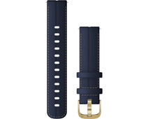 Garmin Leather Strap Blue/Gold 18mm