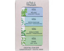 Pret a Pousser Indoor Garden Navulling Homemade Cocktails 4-Pack