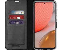 Valenta Gel Skin Samsung Galaxy A72 Book Case Zwart