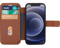 BlueBuilt iPhone 12 mini Book Case Leer Bruin