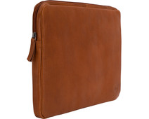 BlueBuilt 15-inch Laptop Cover Width 34 - 35cm Leather Cognac