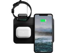 Nomad Base Station 3-in-1 Draadloze Oplader 10W met Houder voor Apple Watch Oplader