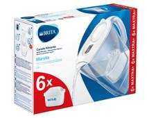 BRITA Marella Cool White + 6 Maxtra+ filterpatronen