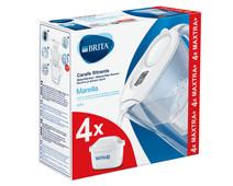 BRITA Marella Cool White + 4 Maxtra+ filterpatronen