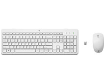 HP 230 Wireless Keyboard and Mouse White QWERTY