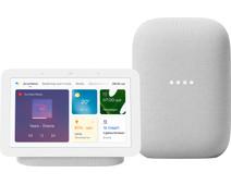 Google Nest Hub 2 Chalk + Nest Audio Chalk