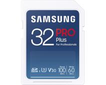 Samsung Pro Plus 32GB, SDHC, UHS-I, U3, 100Mb/s & 60MB/s Reads & Writes, FHD & 4K UHD, Mem