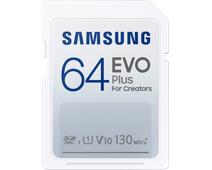 Samsung EVO Plus 64GB, SDXC, UHS-I, U1, 130MB/s, FHD, Memory Card(MB-SC64K)