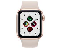 Apple Watch SE 40mm Roségoud Aluminium Crème Sportband
