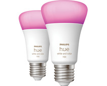 Philips Hue White & Color E27 10.5W Duo pack