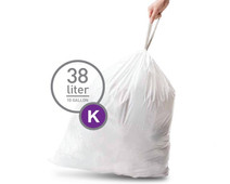 Simplehuman Waste Bag Code K - 38 Liter (20 pieces)