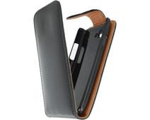 Xccess Leather Flip Case HTC One X Zwart