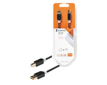 Konig Printer Cable USB 2.0 3 Meters Gray