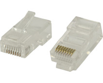 Valueline UTP CAT5 Network Plug Transparent 5 units