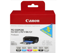 Canon PGI-550/CLI-551 Cartridges Combo Pack