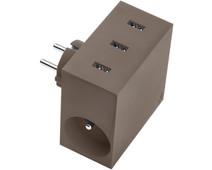 USBEPOWER High Speed 5 in 1 usb lader 4,4 A Bruin