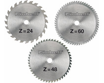 Einhell Zaagbladenset 210x30x2.5mm 24/48/60T