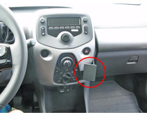 Brodit ProClip Peugeot 108 / Citroën C1 / Toyota Aygo from 2014 Right Angle Attachment