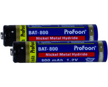 Profoon Rechargeable AAA NiMH Batteries 800mAh 2-pack