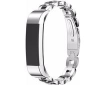 Just in Case Premium RVS Polsband Fitbit Alta Zilver