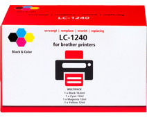 Pixeljet LC-1240 4-Color Pack for Brother printers (LC-1240VALBP)