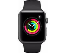 Apple Watch Series 3 42mm Space Gray Aluminum/Black Sport Band