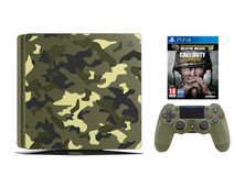 Sony PlayStation 4 Slim 1TB COD WWII Camo Bundle