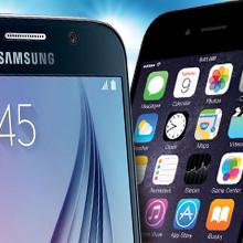Vergelijk Samsung S6, iPhone 6