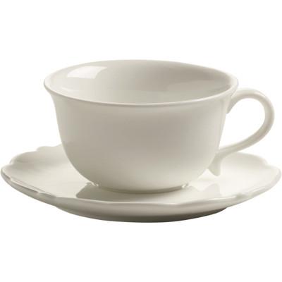 Maxwell & Williams White Rose Espressokop met Schotel