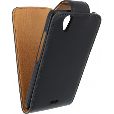 Xccess Leather Flip Case Wiko Birdy Zwart